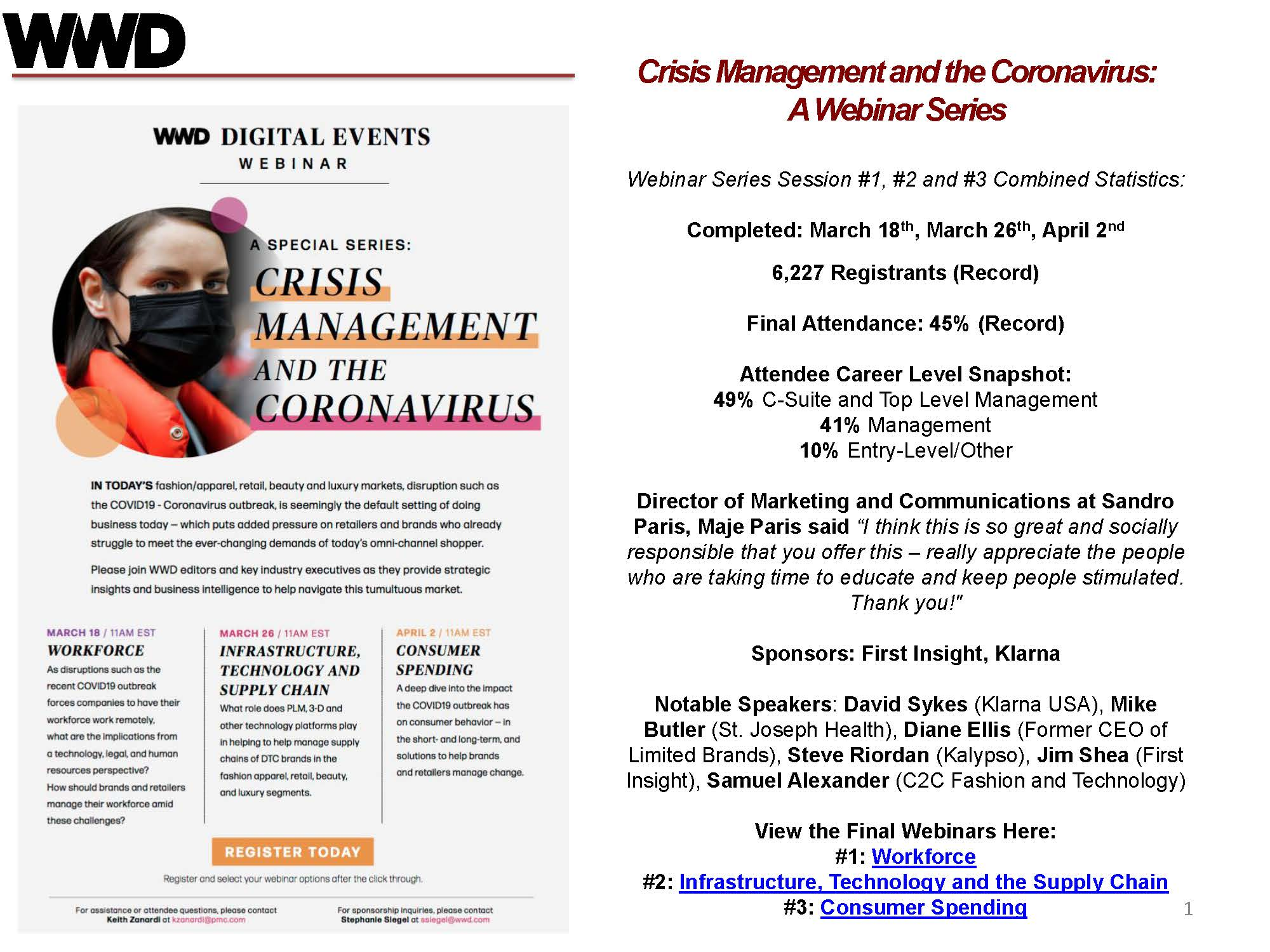 Crisis Management Series Highlights